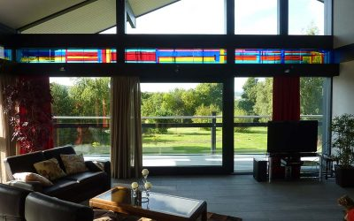 The new stained glass for modern architecture