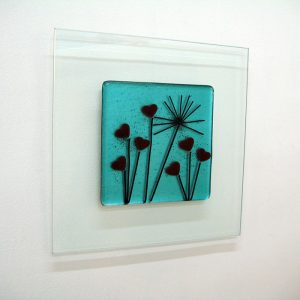 Glass art wall picture