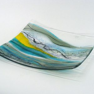 Glass art bowl