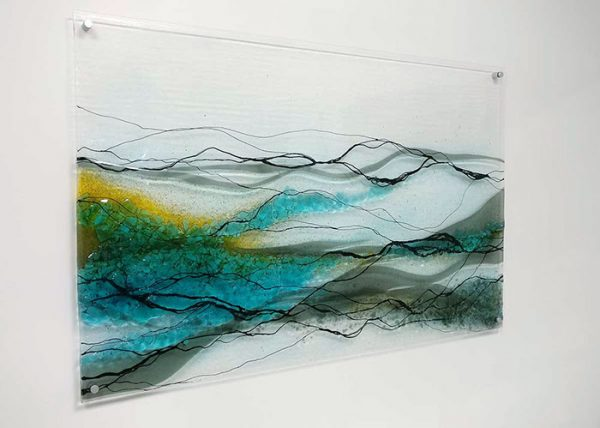 Fused glass wall picture