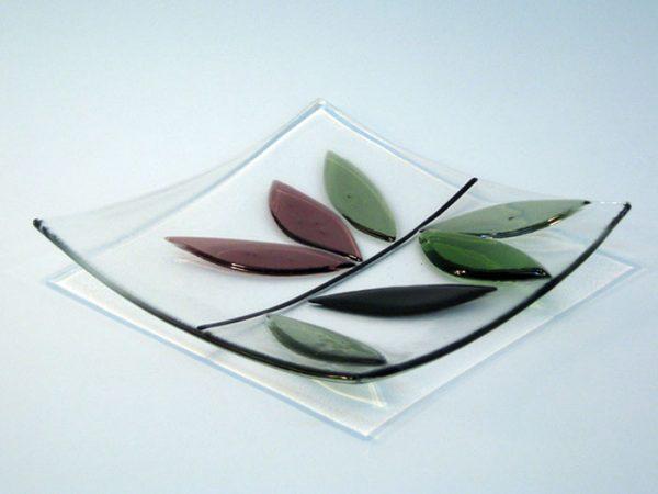Glass art bowl