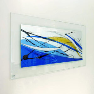 Ocean Abstract Glass Art Picture