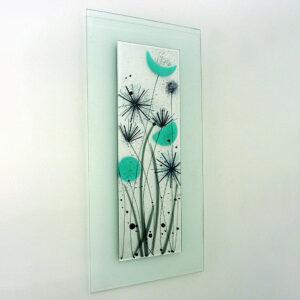 Modern glass art flower picture