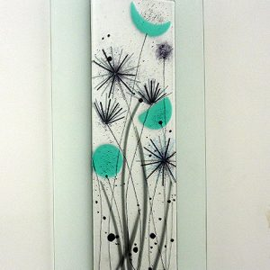 Modern flower design in glass