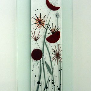 Contemporary glass rt picture flower design